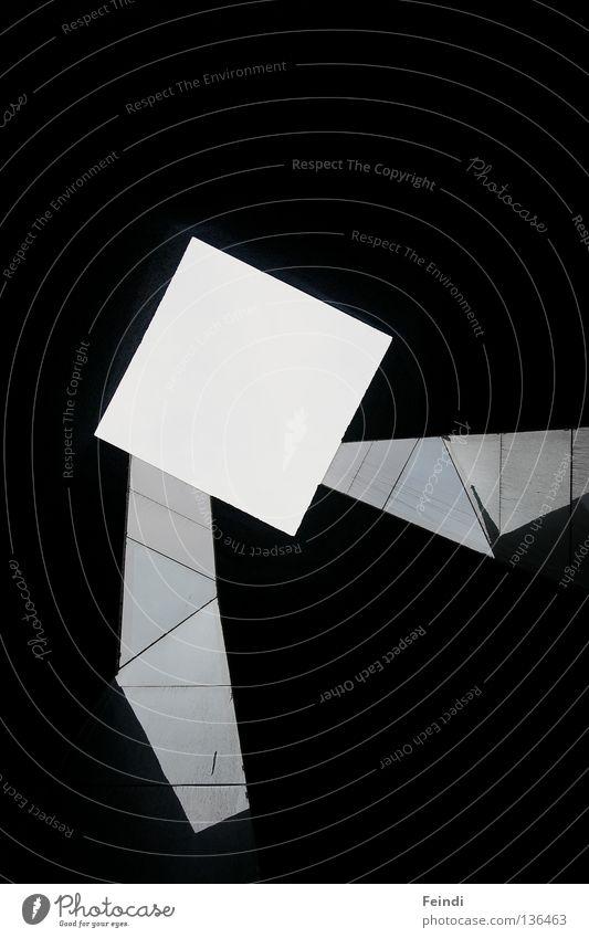 Am Ende des Tunnels schwarz dunkel modern Quadrat Barcelona graphisch gestellt Lichtschacht