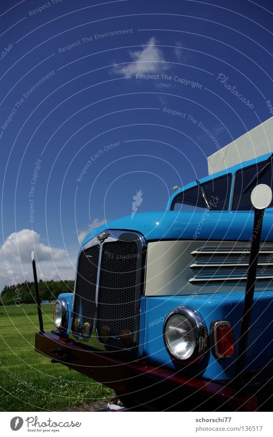 IFA S4000 Himmel blau PKW Verkehr Technik & Technologie Lastwagen DDR Oldtimer Elektrisches Gerät