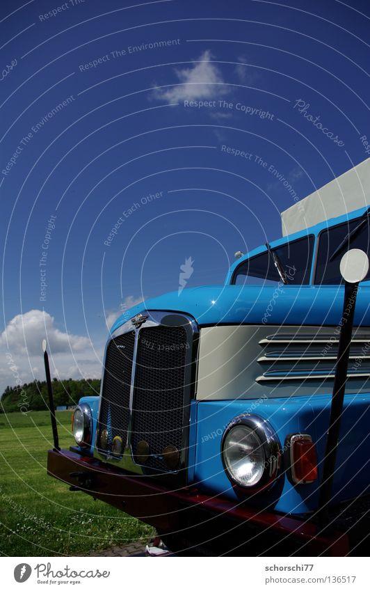 IFA S4000 Oldtimer Lastwagen Elektrisches Gerät Technik & Technologie Verkehr PKW DDR auerbach s4000 blau Himmel
