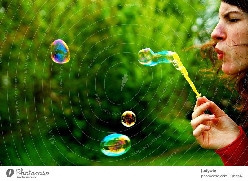 Seifenblaaaasen ! Freude Farbe Graffiti hell rund Spiegel blasen Seifenblase anstrengen Seife kindisch