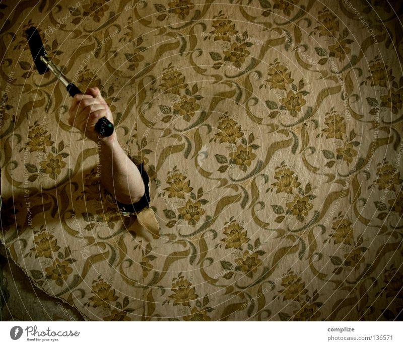Heimwerker Albtraum! alt Einsamkeit Blume Haus Innenarchitektur Arbeit & Erwerbstätigkeit Angst Wohnung Raum Freizeit & Hobby Design kaputt Bodenbelag retro Kreativität Idee