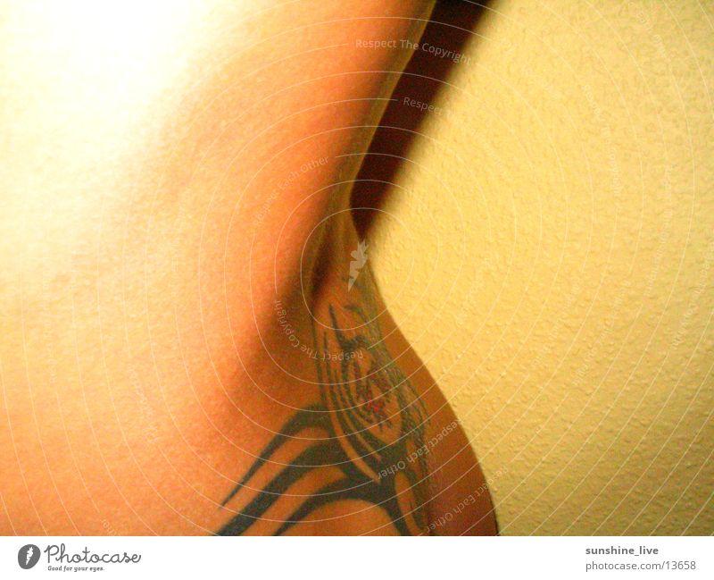 Rückenansicht Frau Erotik feminin Rücken Tattoo Haut Nackte Haut