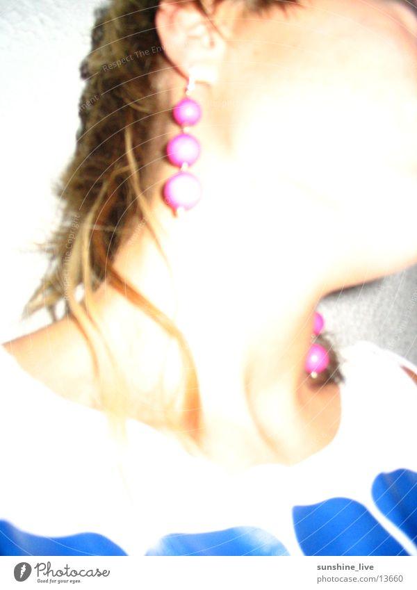 seitenprofil Mensch feminin Haare & Frisuren Haut Hals Ohrringe
