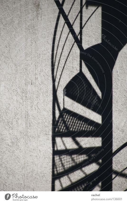 Helix elegant Häusliches Leben Raum Architektur Treppe Fassade Linie drehen dreckig dünn Spirale Wendeltreppe Drehung Schwung gedreht Windung geschwungen