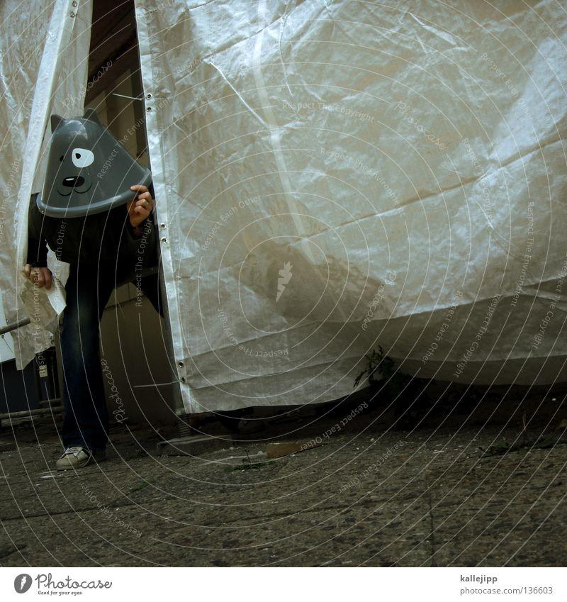 katz und... Katze Futter Tier Humor Karneval Vorhang Abdeckung Baustelle Show Musical Comic Mann Mensch Lifestyle Wand Schwanz Mauer Haus Hinterhof ruhig Pfote