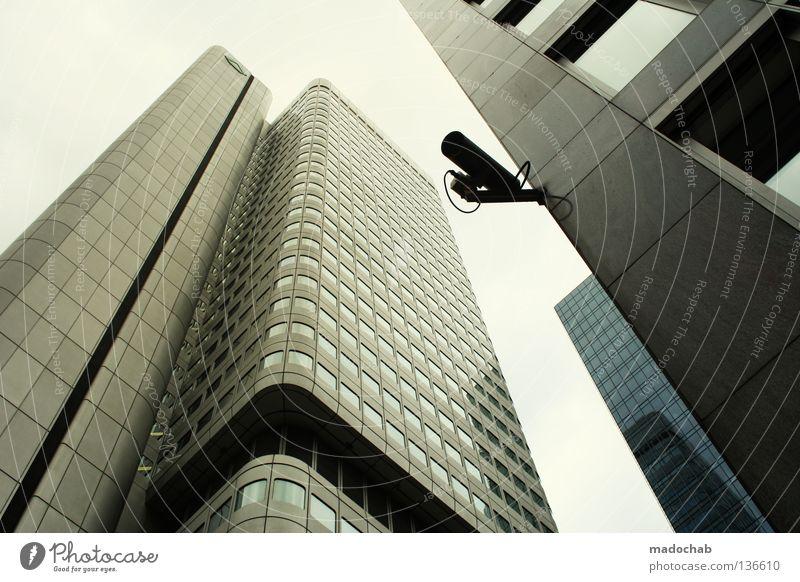 Hochhaus in Frankfurt Bank Frankfurt am Main Etage Stadt Architektur Macht mainhattan skyhigh rising urbanlove urbanesque hoch stdt Bankenviertel Himmel