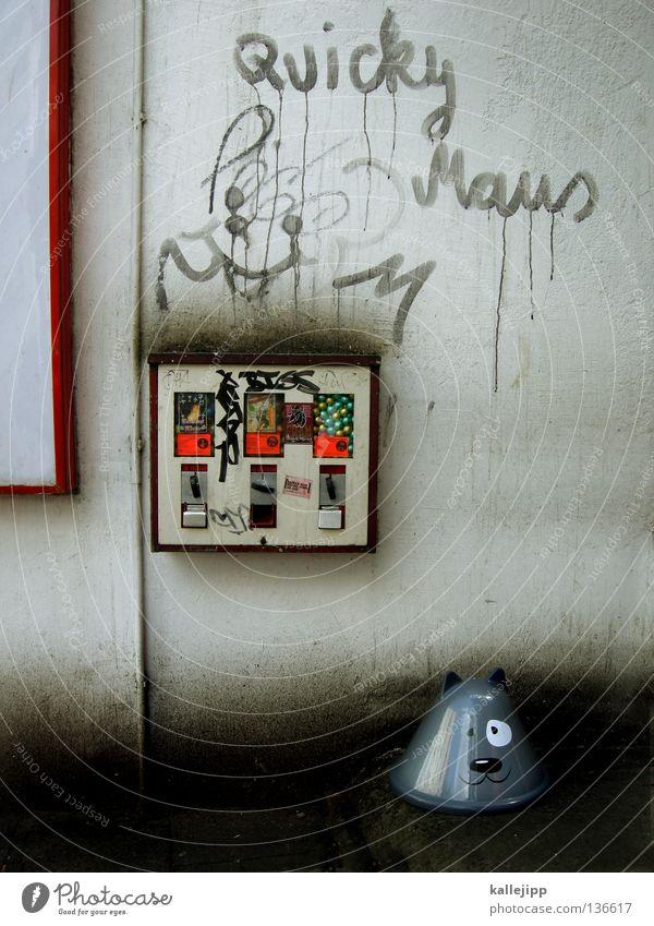 katz und maus Katze Mensch Mann Freude Tier ruhig Haus Graffiti Wand Bewegung lachen Mauer lustig Beleuchtung Energiewirtschaft Elektrizität