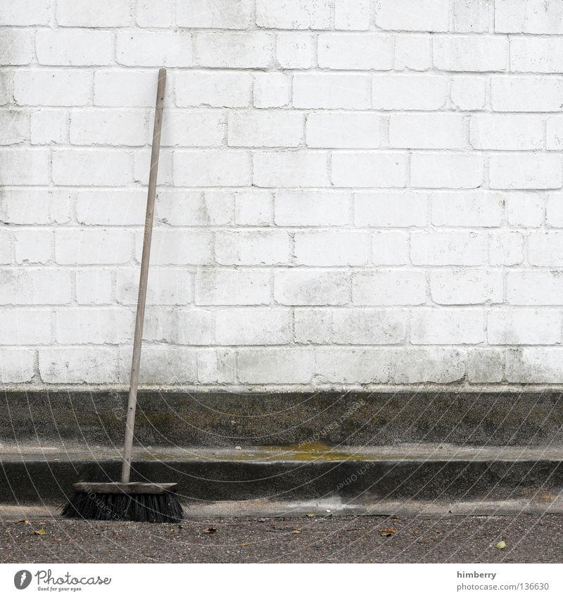 kehrwoche Farbe Straße Stil Stein Mauer Beton Bauwerk Sauberkeit Reinigen streichen Bauernhof Fuge Haushalt Bordsteinkante Besen Kehren