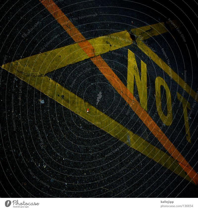 yes notleidend Typographie Parkplatz Streifen gelb grau Buchstaben Schriftzeichen Schlagwort Großbuchstabe Lateinische Schrift Bodenmarkierung graphisch