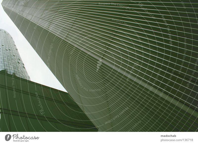 URBAN HEIGHTS Himmel Stadt Business Linie Fassade Beton hoch Hochhaus groß Macht Frankfurt am Main Geometrie Flucht schick graphisch beeindruckend