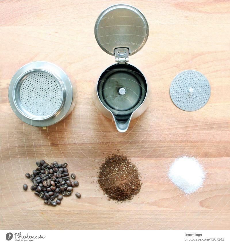 trunk Lebensmittel Zucker Ernährung Essen Frühstück Kaffeetrinken Getränk Heißgetränk Espresso Gesunde Ernährung Küche genießen Mokka Kaffeepause Kaffeemaschine