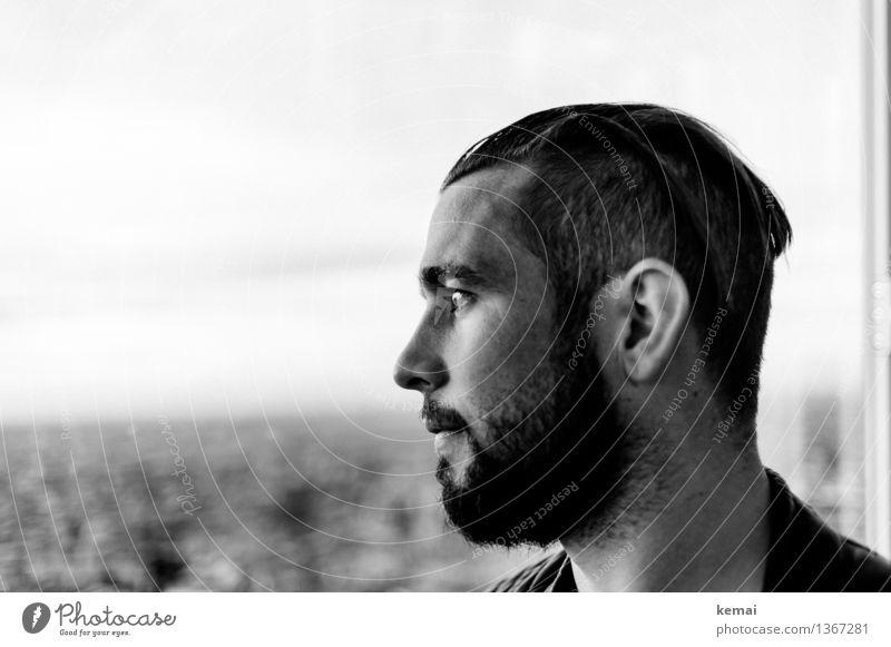 Omnipräsent aber unsichtbar Mensch Ferien & Urlaub & Reisen Jugendliche Erholung Junger Mann Einsamkeit ruhig Ferne 18-30 Jahre Gesicht Erwachsene Leben