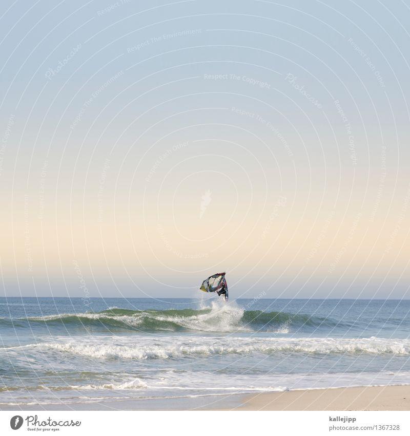 push loop Lifestyle Stil Freude Freizeit & Hobby Ferien & Urlaub & Reisen Sonne Strand Meer Wellen Sport Fitness Sport-Training Wassersport Mensch maskulin