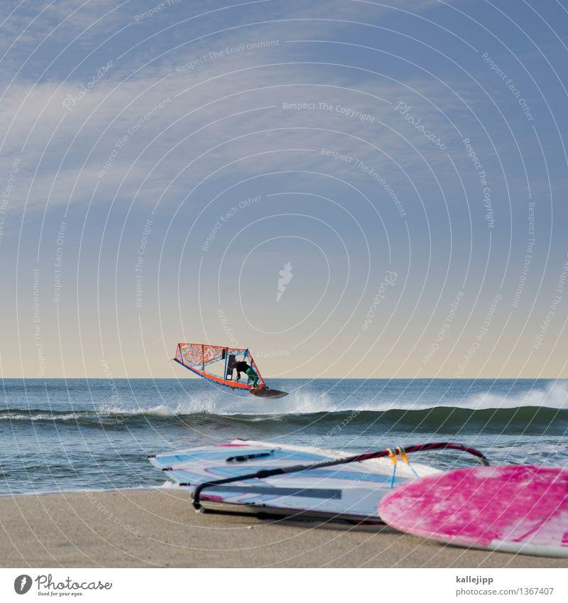 goiter Lifestyle Stil Freizeit & Hobby Sport Wassersport Mensch maskulin Körper 1 18-30 Jahre Jugendliche Erwachsene Umwelt Natur Wellen Küste Strand Nordsee
