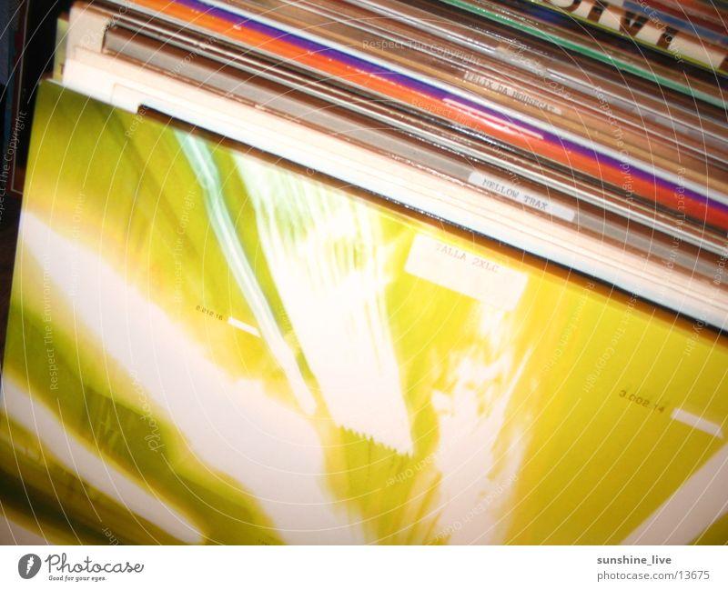 in the mix Schallplatte Diskjockey Medien cover Musik dance scratch Ledertasche