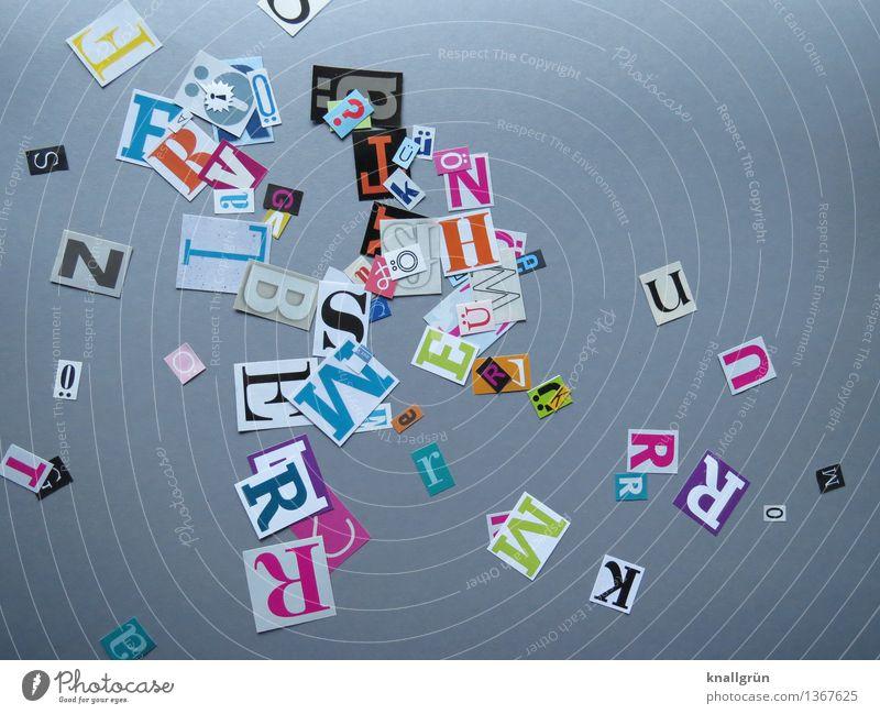 Leg los! Schriftzeichen Kommunizieren eckig mehrfarbig grau Inspiration Kreativität Lateinisches Alphabet Großbuchstabe Farbfoto Studioaufnahme