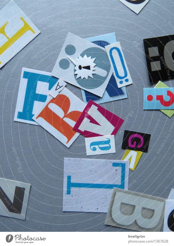 Ö! Zeichen Schriftzeichen Kommunizieren eckig mehrfarbig grau Idee Inspiration Kreativität Lateinisches Alphabet Großbuchstabe Fragezeichen Ausrufezeichen