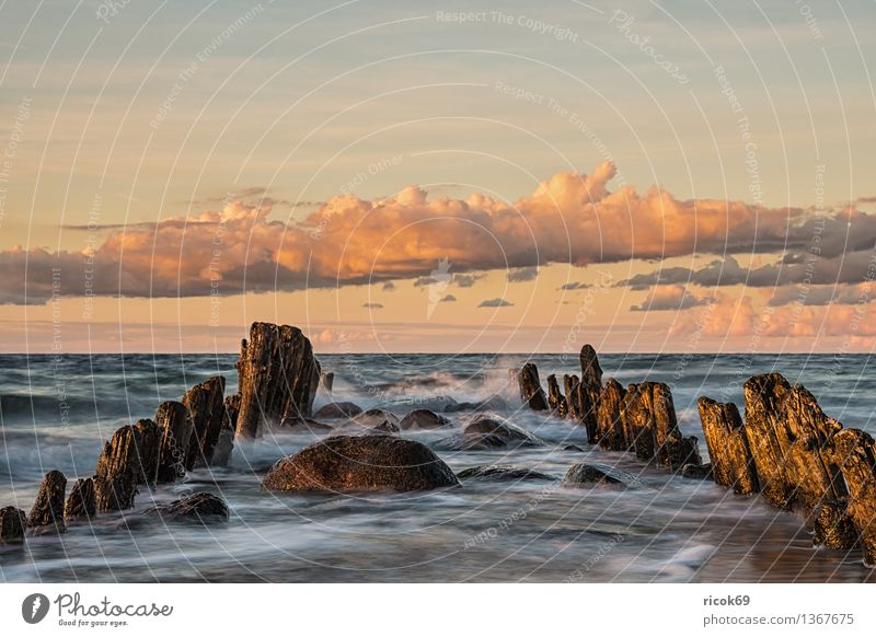 Ostseeküste Natur Ferien & Urlaub & Reisen alt Wasser Erholung Meer Landschaft ruhig Wolken Strand Küste Horizont Tourismus Idylle Romantik