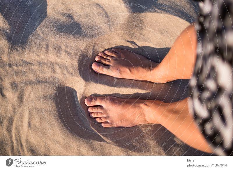 standpunkt Ferien & Urlaub & Reisen Sonne Strand Wärme Fuß Sand stehen Barfuß