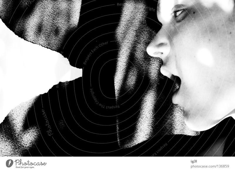 friss oder stirb! Gesicht offen Mund Appetit & Hunger Anschnitt seltsam Gesichtsausschnitt