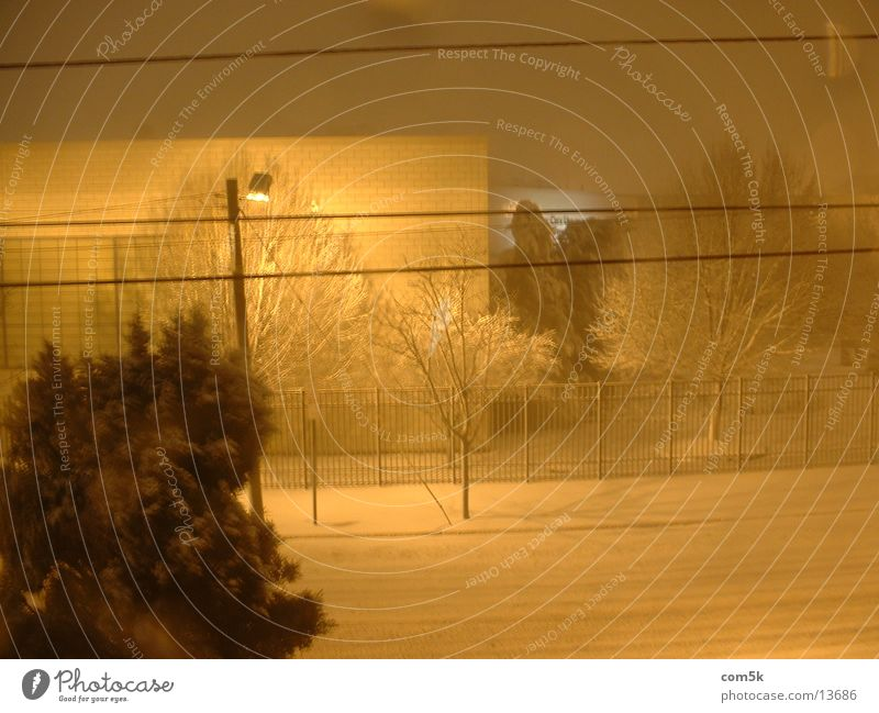 Urban-Night Snow Storm