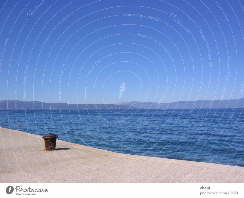 Das Meer Ferien & Urlaub & Reisen Kroation Wasser Himmel Sonne