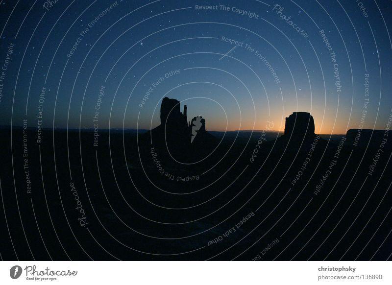 MonUment Sonne Stimmung Stern USA Mond Nationalpark Sternenhimmel Arizona Monument Valley Mondaufgang