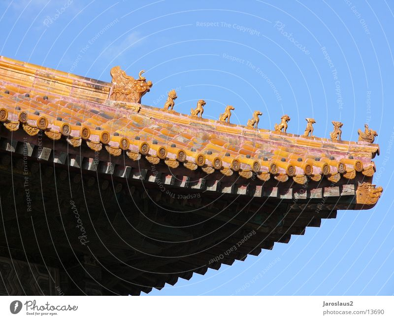 chinesisches Tempeldach Architektur China Peking Verbotene Stadt