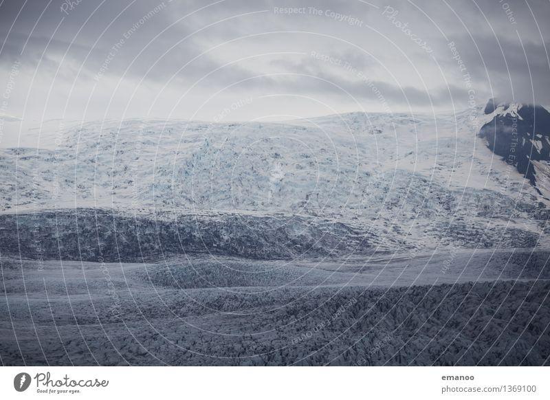 Ice Land Natur Ferien & Urlaub & Reisen Landschaft Ferne Winter kalt Berge u. Gebirge Schnee grau Eis wandern Klima weich rund Gipfel Frost