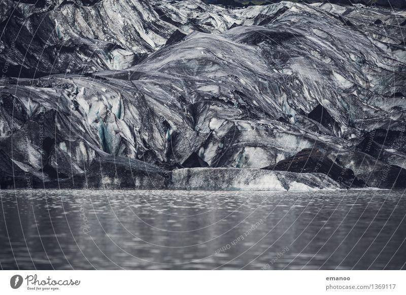 Asche auf der Zunge Natur Landschaft Urelemente Wasser Winter Klima Klimawandel Eis Frost Berge u. Gebirge Gletscher Vulkan See Fluss dick kalt Island