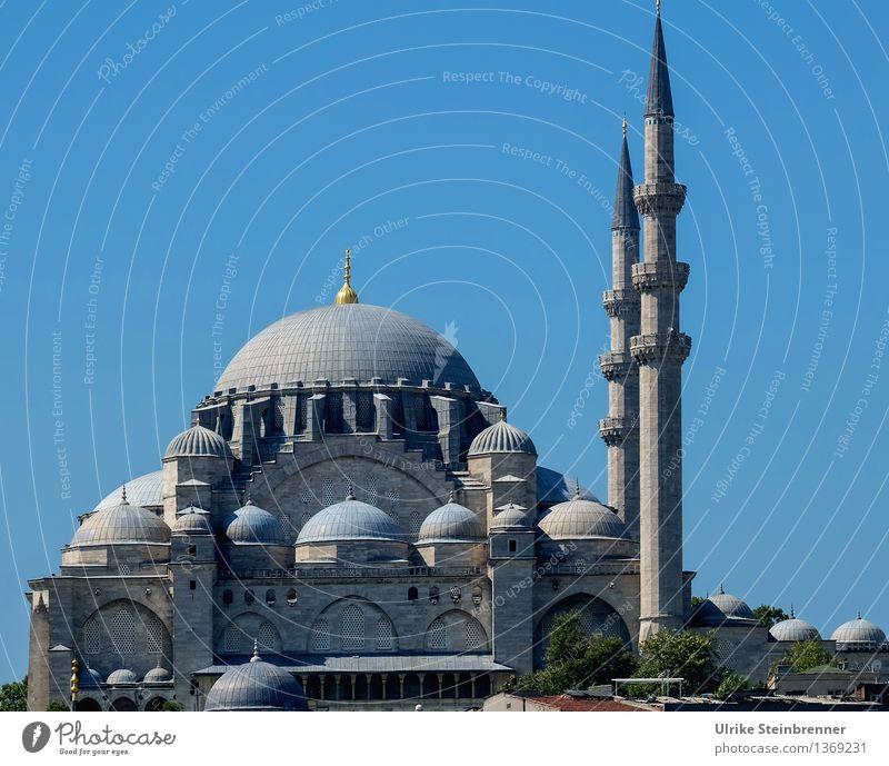 Minarette 2 Ferien & Urlaub & Reisen Tourismus Sightseeing Städtereise Istanbul Türkei Stadtzentrum Bauwerk Gebäude Architektur Moschee Turm Sehenswürdigkeit