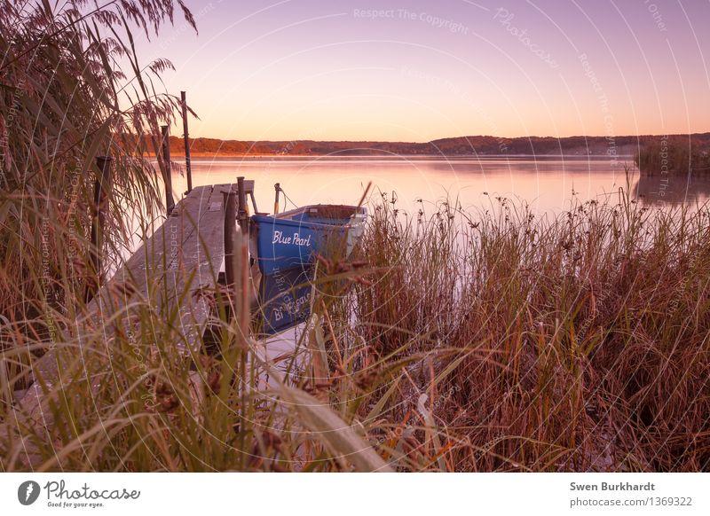Still ruht der See Ferien & Urlaub & Reisen Tourismus Ausflug Abenteuer Ferne Kreuzfahrt Expedition Sommer Umwelt Natur Landschaft Wasser Wolkenloser Himmel