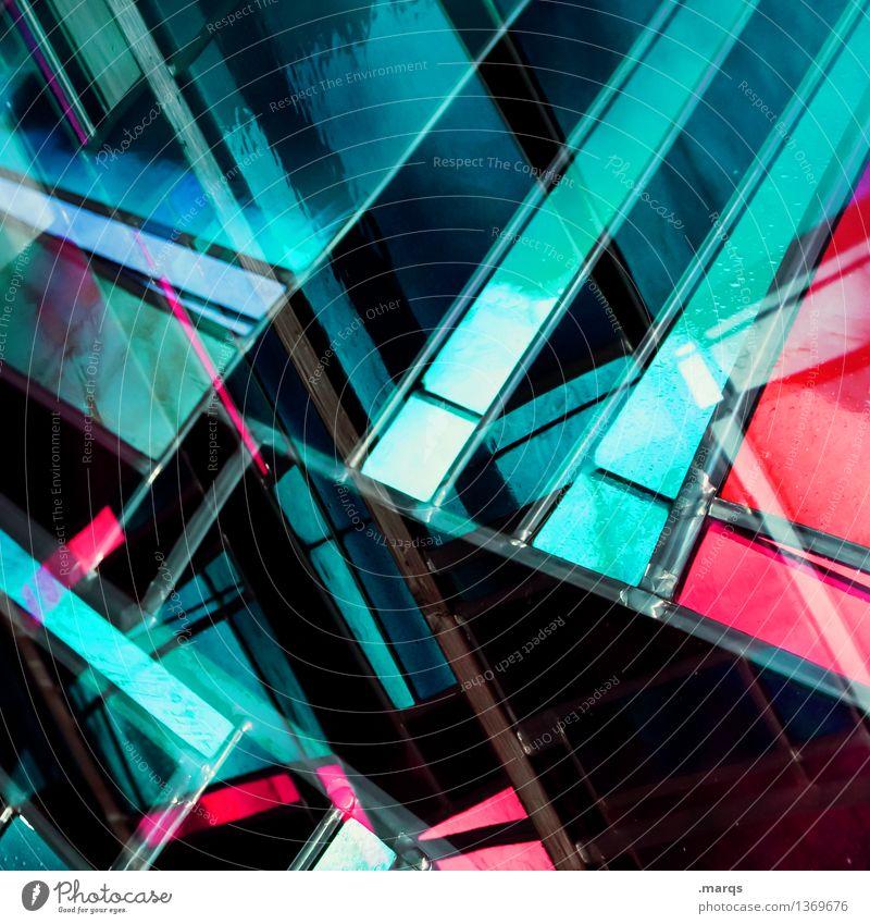 There´s a Light Farbe Fenster schwarz Hintergrundbild Lifestyle Stil außergewöhnlich rosa Design Linie modern elegant Glas verrückt Perspektive Zukunft