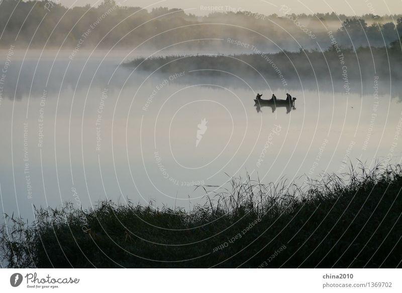 Morgendämmerung Natur Ferien & Urlaub & Reisen Stadt Wasser Landschaft ruhig Stimmung beobachten geduldig