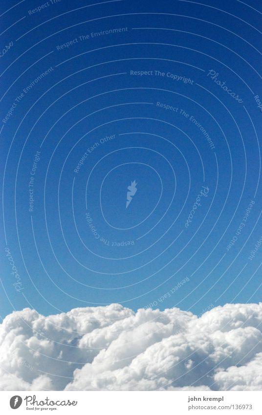 ruhe sanft Himmel blau Himmel (Jenseits) schön weiß ruhig Wolken Erde Horizont Luftverkehr Erde hoch Weltall Bett himmlisch kuschlig