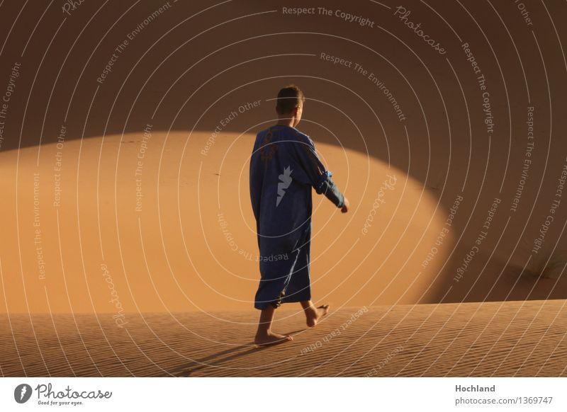 My way Theaterschauspiel Sand Sonnenlicht Wärme Wüste Fußgänger kurzhaarig gehen Lebensfreude Optimismus Willensstärke Mut schön Hoffnung ästhetisch