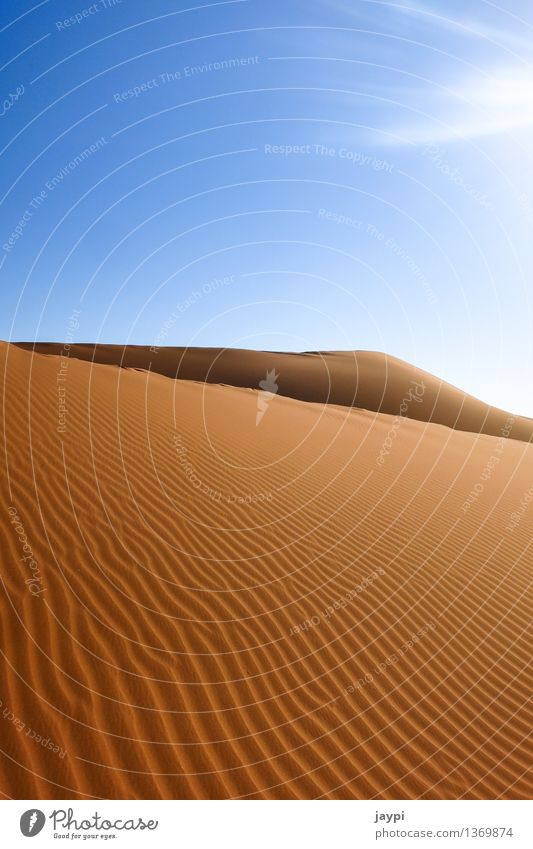 Wellengang Himmel Natur blau schön Landschaft ruhig Umwelt Stimmung Sand orange groß einfach Unendlichkeit Hügel trocken Wüste