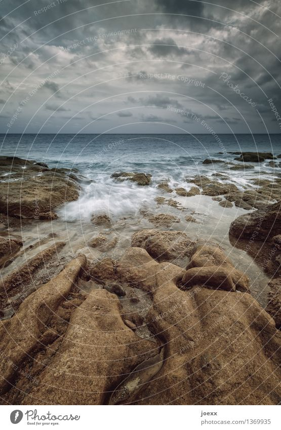 Formgebung Himmel Natur Wasser Landschaft Wolken Küste Felsen Horizont Idylle schlechtes Wetter