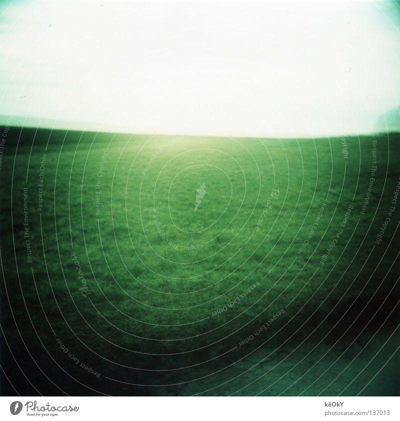 Greeen Himmel grün Wiese Quadrat türkis Vignettierung