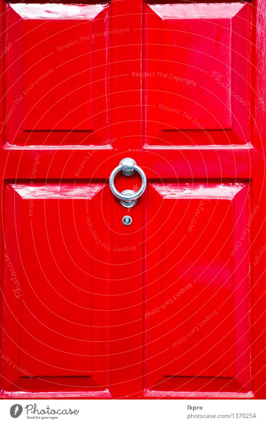 Stadt alt rot Haus Architektur Stil Gebäude Kunst Metall Design Dekoration & Verzierung Tür retro Kultur Tradition Geborgenheit