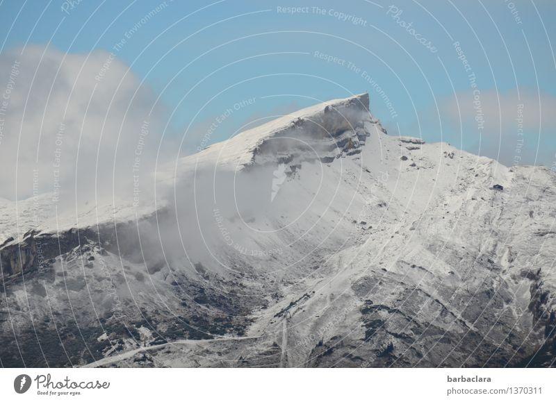 Traum wetter in den Bergen Himmel Natur Ferien & Urlaub & Reisen blau weiß Ferne kalt Berge u. Gebirge Umwelt Schnee Freiheit Stimmung Horizont Nebel hoch Schönes Wetter