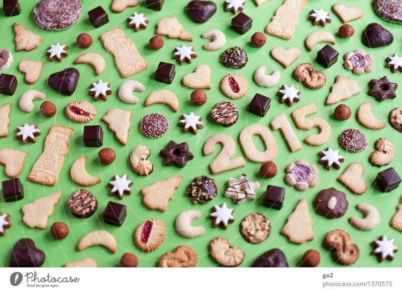 Happy Keksmas Weihnachten & Advent grün Essen Glück Feste & Feiern braun Schriftzeichen ästhetisch Ernährung genießen Stern (Symbol) Zeichen viele lecker