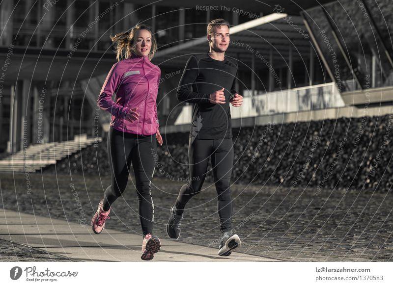 Mensch Frau Jugendliche Mann Stadt 18-30 Jahre Gesicht Erwachsene Straße Sport Lifestyle Paar Zusammensein Aktion Erfolg Energie