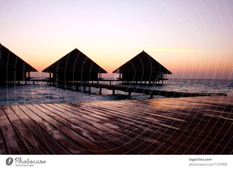 GOOD MORNING RANNALHI Sonne Meer Sommer Ferien & Urlaub & Reisen Leben Erholung Asien gut Häusliches Leben Steg Indien Malediven Flitterwochen Ferienhaus