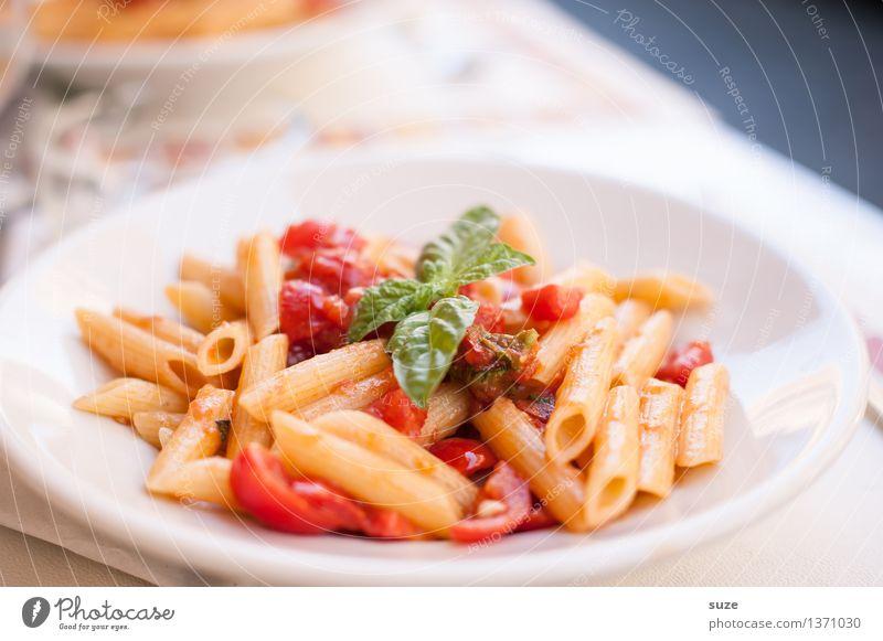 Das ist mein letztes Wort - PASTA! Lebensmittel Ernährung Essen Mittagessen Vegetarische Ernährung Italienische Küche Teller Lifestyle Gesunde Ernährung