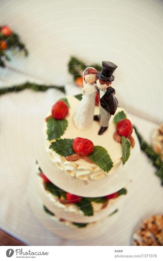 Das Sahnehäubchen Lebensmittel Kuchen Dessert Süßwaren Ernährung Essen Festessen Freude Glück Feste & Feiern Hochzeit Puppe genießen Liebe Zusammensein niedlich