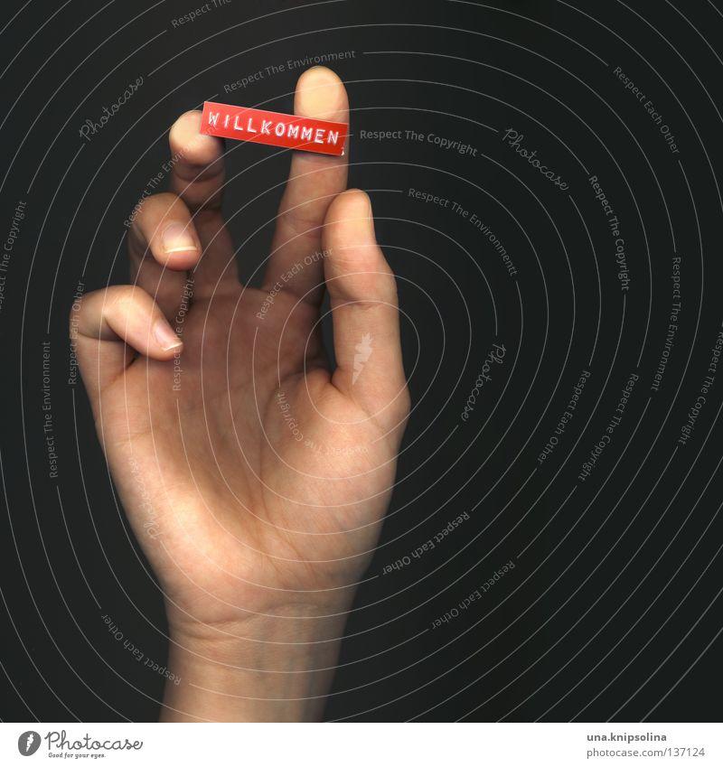 grias euch Mensch Hand Gefühle Finger berühren Daumen Gefäße Nagel Begrüßung Blattadern Willkommen Hallo Gelenk Scan Scanner erfassen