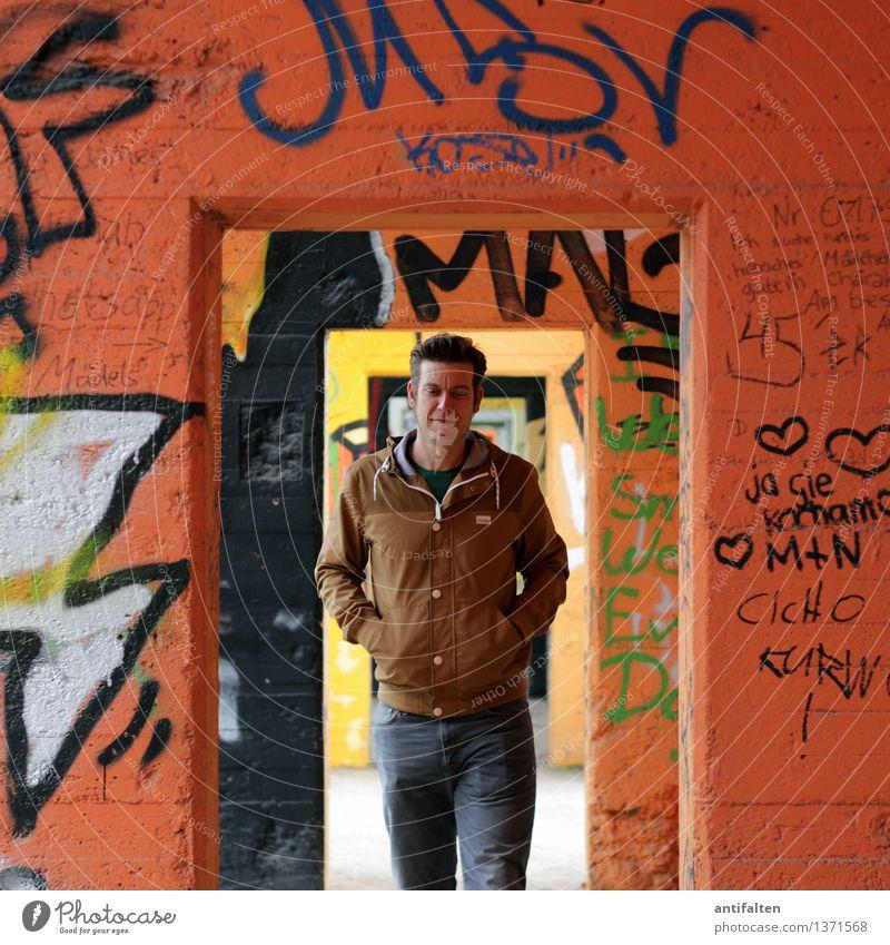 Übergang Lifestyle Graffiti Mensch maskulin Junger Mann Jugendliche Erwachsene Freundschaft Partner Leben Körper Gesicht Arme 1 30-45 Jahre Kunst Architektur