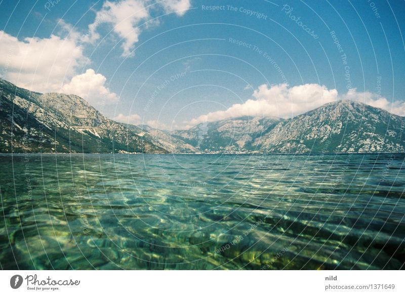 Montenegro – Bucht von Kotor Himmel Natur Ferien & Urlaub & Reisen blau grün schön Sommer Wasser Erholung Meer Landschaft Wolken Umwelt Küste Schwimmen & Baden