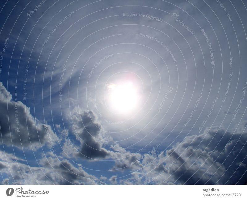 Sonne hinter Wolken 02 Himmel Sonne Wolken